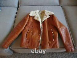 Vintage Men's Schott NYC Rancher Western Leather Lined Jacket Size 42