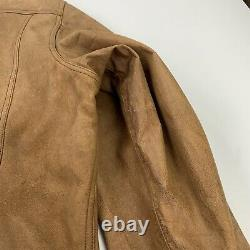 Vintage Ralph Lauren RRL (M) Thick Rugged Western Motorcycle Leather Jacket