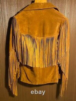 Vintage Rancher By Schott Bros Suede Leather Fringe Western Jacket Mens Size 40