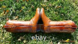 Vintage T. O. Stanley Rare Pin Quill Ostrich Skin Exotic Western Boots 10 D