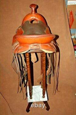 Vintage William N Porter American Western Leather 15 Seat Roping Saddle No 1561