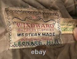 Vintage horsehide Leather Jacket Size 40 WindWard Western Made Front Quarter 50s