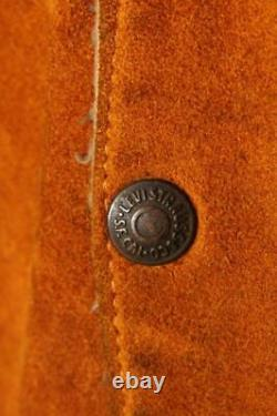 Vtg 1950s LEVIS BIG E Shorthorn Suede Leather Western Trucker Jacket XL
