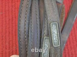 WESTERN SIMCO SHOWithTRAIL HEADSTALL/BRIDLE + MATCHING ROMMEL REINS