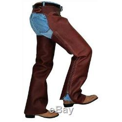 Weaver Leather Western Shotgun-Style Chaps, Full Grain with Buckle Close Back