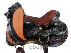 Western Cowboy Saddle Barrel Racing 15 16 17 Pleasure Horse Tooled Leather Tack