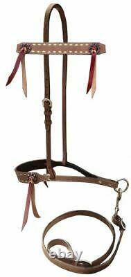 Western Saddle Horse Leather 5pc. Tack Set with Buckstitch Bridle + Breast Collar