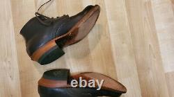 Whites Boots Semi Dress Brown Ankle Leather Quabaug Heel Size 9 D USA cuban heel