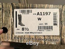 Women's Corral Boots A1197, Wings & Cross