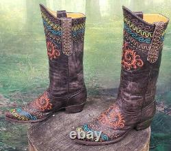Women's Cowgirl Western Old Gringo Embroidered Zarape 10 B Cowboy Boots