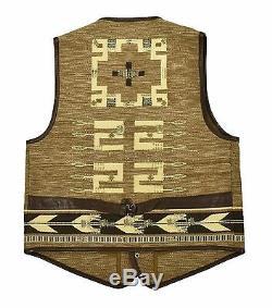 Women's Ralph Lauren Purple Label Western Indian Leather Vest M New $3998