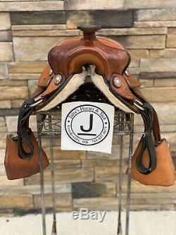 12.5 Youth Western Pony En Cuir Américain De Selle, Propre
