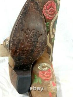 14 Inch Shaft Junk Gypsy Par Lane Ladies Cowboy Boots Jg0054a Charmer $320 Outillé