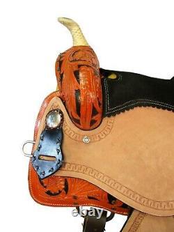 15 16 Barrel Racing Rodeo Western Saddle Pleasure Trail Tooled Leather Horse Set