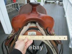 15'' #7924 C Fabtron Marron Cuir / Cordura Selle De Sentier Ouest Sqh Bars Brass