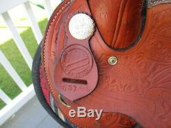 15 # 837 Américain Western Sellerie Tourner Rapide Barrel Selle Qh Bars
