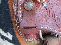 15 '' Big Horn # 7 Buck Western Trail Cousu Selle Fqhb