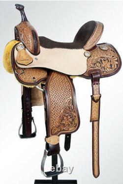 15 Dans Western American Leather Horse Saddle Barrel Racing Trail Pleasure U-1-15