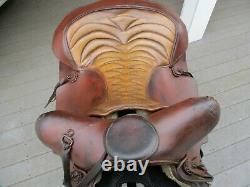 15'' Vintage #963 Piège D'ours Roper Western Saddle Fqhb 35lb#
