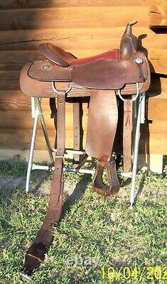 16.5 Occasion Billy Cook Pleasure Trail Reining Selle Made Greenville Texas