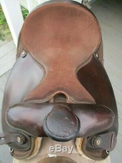16 ' ' Brun Big Horn # 264 Chemin Canon Rond Ouest Selle Cordura Et Cuir Qhb