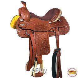 16 Dans L'ouest Des Chevaux De Selle En Cuir Ranch Cowboy Roping Hilason U-0-16