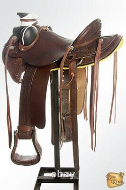 16 Dans Western Horse Saddle Leather Wade Ranch Roping Dark Brown Hilason U-b-16