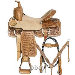 16 In Western Horse Saddle Leather Trail Pleasure Great American Tack Set U-1-16