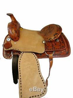 17 16 Pleasure Western Horse Trail Mule Roping Rancher Roper Cuir Selle