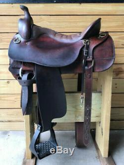 17,5 Brown Tucker High Plains Western Gaited Horse Trail Selle Avec Seat Gel