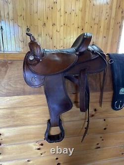 17 Selle Western Amish Engrossé Qh Bars