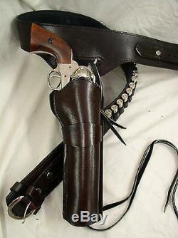 44 45 Ruger Colt Uberti Western Fast Draw Sixgun Pistolet En Cuir Gun Holster Ceinture