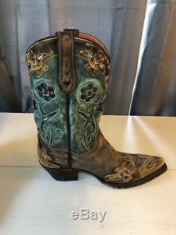 8-1 / 2 M De Dan Post'bluebird ' Snip Toe Western Cowboy Bottes Femmes De Style 3544