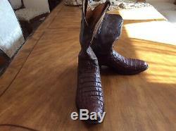 Alligator Exotique Bottes Western, Tony Lama Brown, De La Taille 11 D, Vendu Au Détail À $ 1195