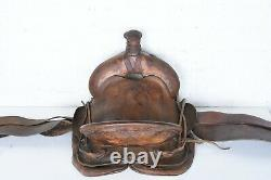 Antique 1900 George Lawrence Co. Western Riding Saddle Collectionnable Gl Portland