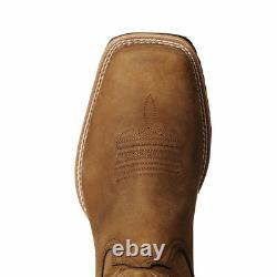 Ariat Hybrid Rancher Distressed Brown Square Toe Boots 10023175