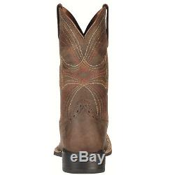 Ariat Sport Hommes Grand Place Toe Bottes Distressed Brown 10010963