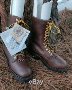 Blancs Hathorn Explorateur Brown Bottes En Cuir Packer Logger Bois Hommes D Largeur