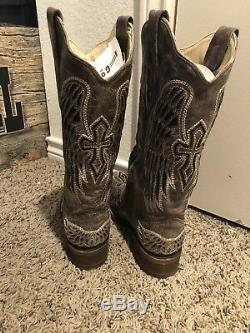 Bottes Corral Femmes A1197, Wings & Cross