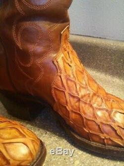 Bottes Cowboy Rares Et Exotiques Sz10d 100 Pour Cent Authentique