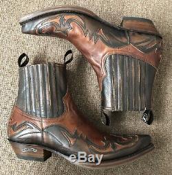 Bottes Sendra, 4660, Brown Antique, Bottes De Cow-boy, Bottes Western, Bottes De Moto, Nouveau