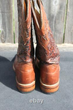 Boulet Main De Femme Outillé En Cuir Cowboy Botte D'orteil Carré 1062 Taille 8.5/9