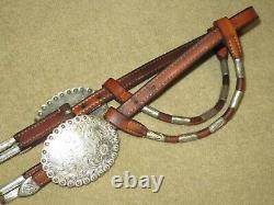 Broken Horn Sterling Silver Western Show Headstall Bridle Avec Clips Bit Unique