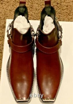 Calvin Klein 205w39nyc Western Harness Leather Boots Shoes Us10/eu43 Italie