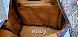 Ccw Western Backpack Leather Cowhide Bag Rodeo Purse Fringe Conceal Carry Gun 19