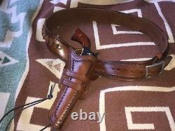 Ceinture De Pistolet Western Personnalisée Et Holster Main Outillé Cowboy Action