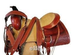 Cheval De Cuir De Luxe Western Pleasure Trail 16 17 Roping Équipe Saddle Ranch Tack