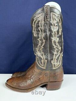 Chisholm African Bullfrog Cowboy Boots Brown Taille 8 D
