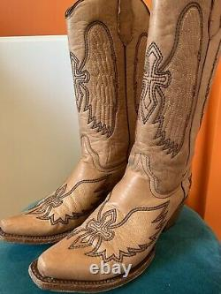 Circle G Light Brown Cross Cowboy/cowgirl Boots Taille 6
