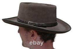 Clint Eastwood Western Cowboy Hat Lapin Fur Hatband En Cuir Grand Cadeau